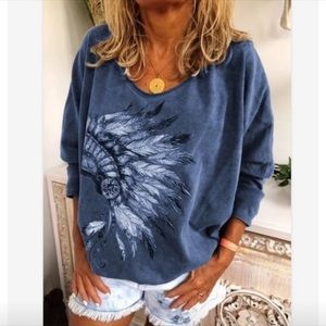 Paint Smock Work Shirt Oversized Boho Tunic